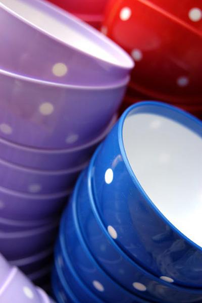 Spotty plastic bowls - Jeremys Home Store -10