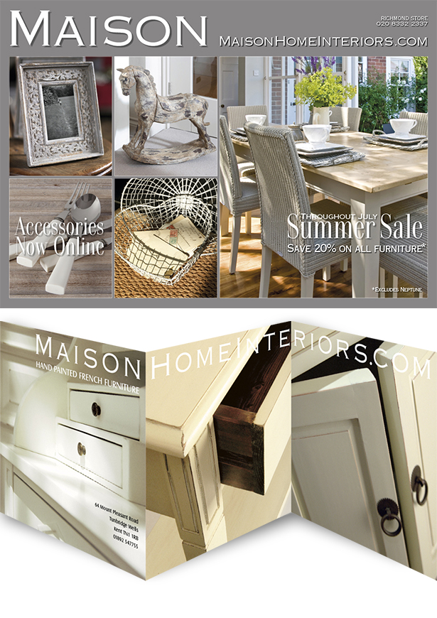 Advertising Card Designs for Maison