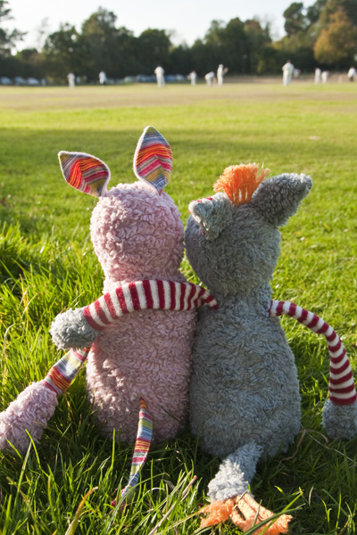 Swallowtail Hill Cuddly Toys - watching the cricket