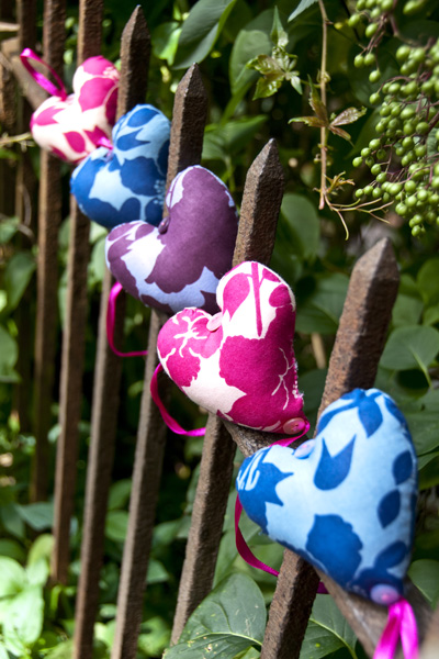 Location Product Photography for Swallowtail Hill - Hearts Stuffed Bunting