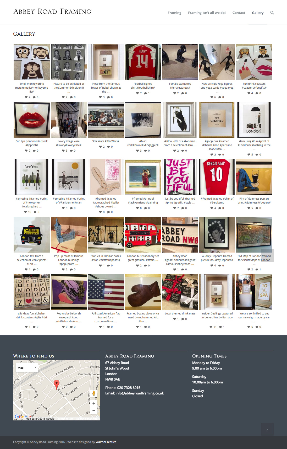Abbey Road Framing Gallery Page