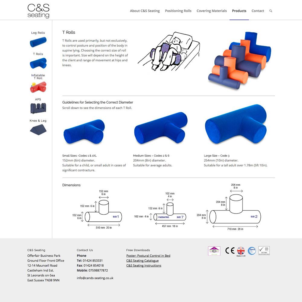 C&S Seating website
