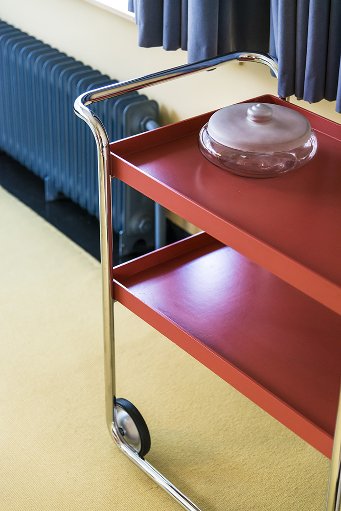 Orange Serving Trolley in Dining Room, Sonnefeld House Rotterdam 171118wc807672