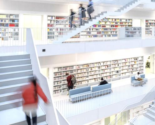 Stuttgart Library travel photographs