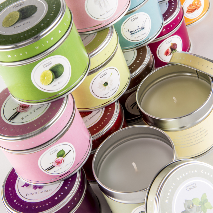 product photography for Copenhagen Candles