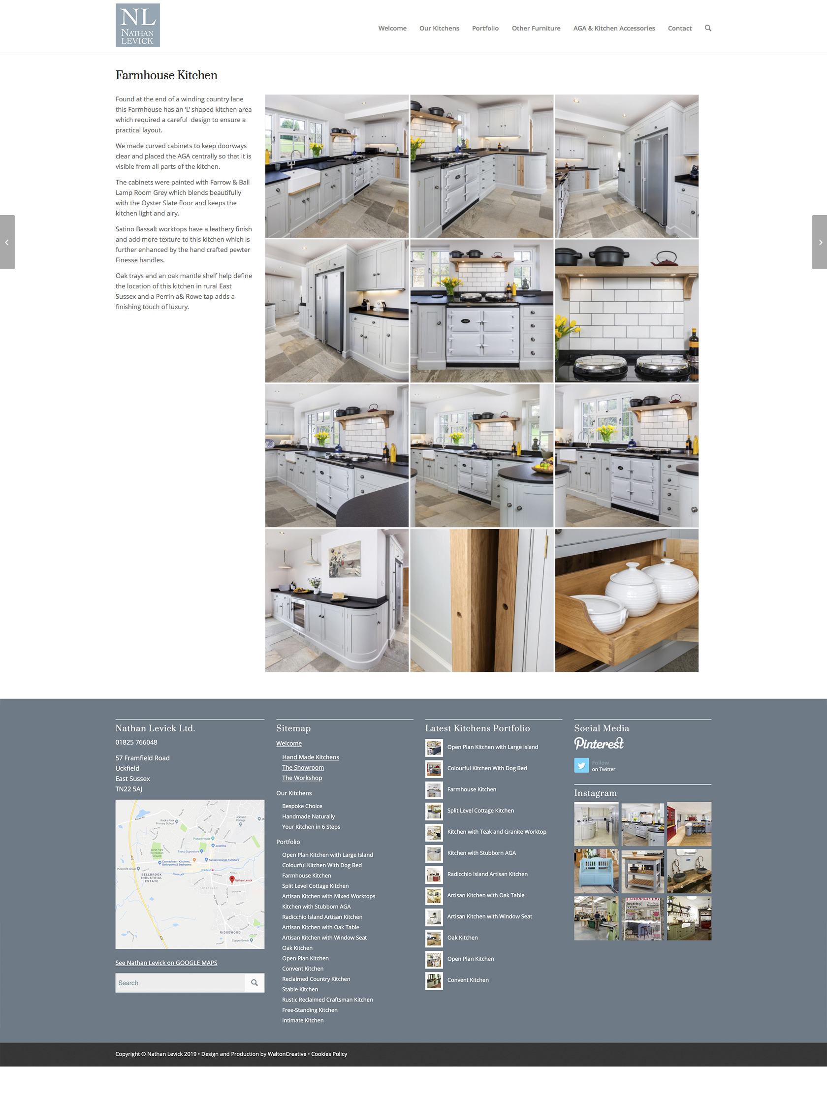 Nathan Levick Website Design