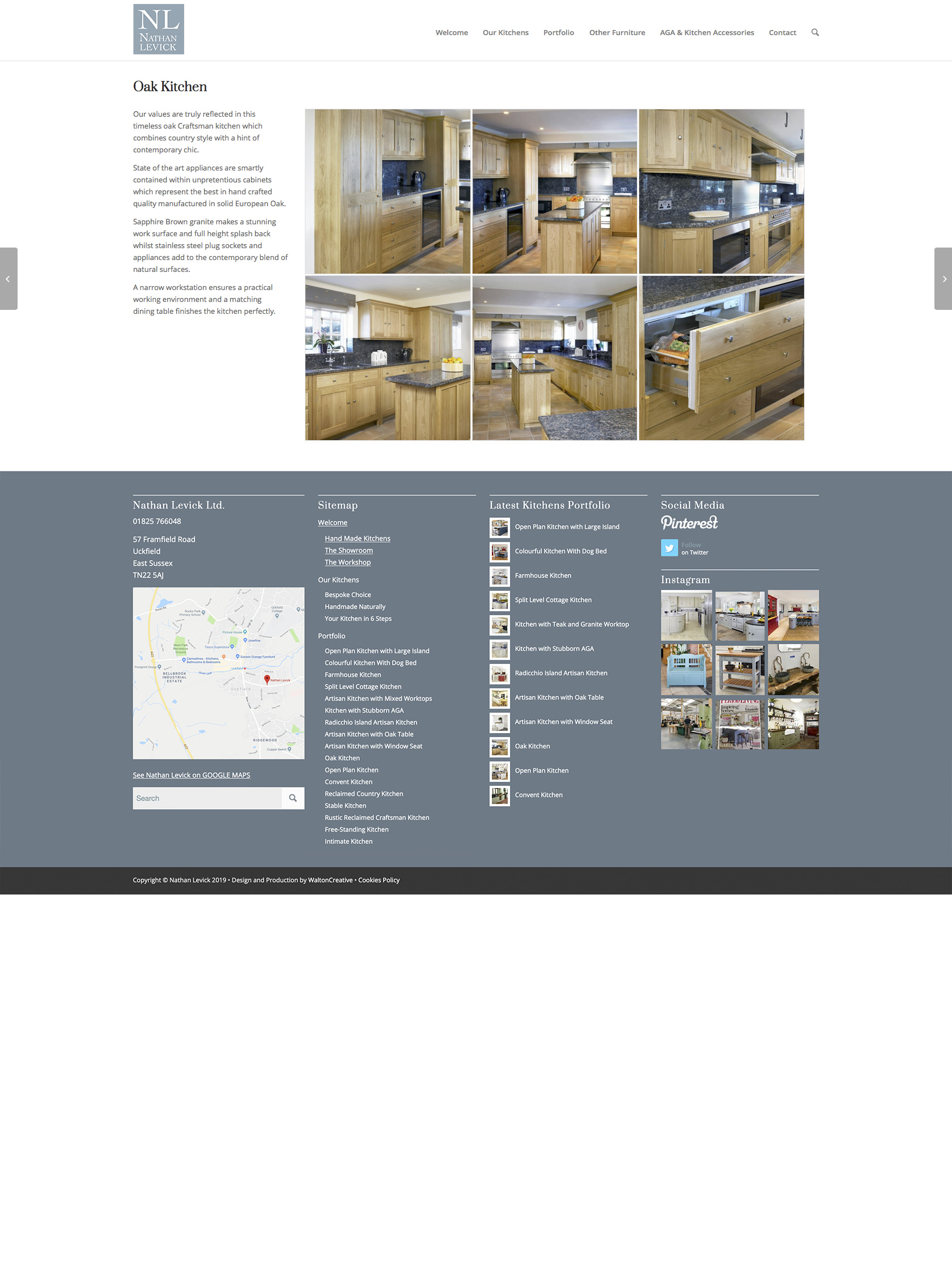 Nathan Levick Website Design