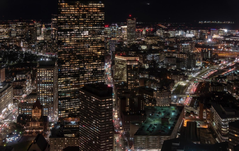 Boston night skyline - shot by WaltonCreative