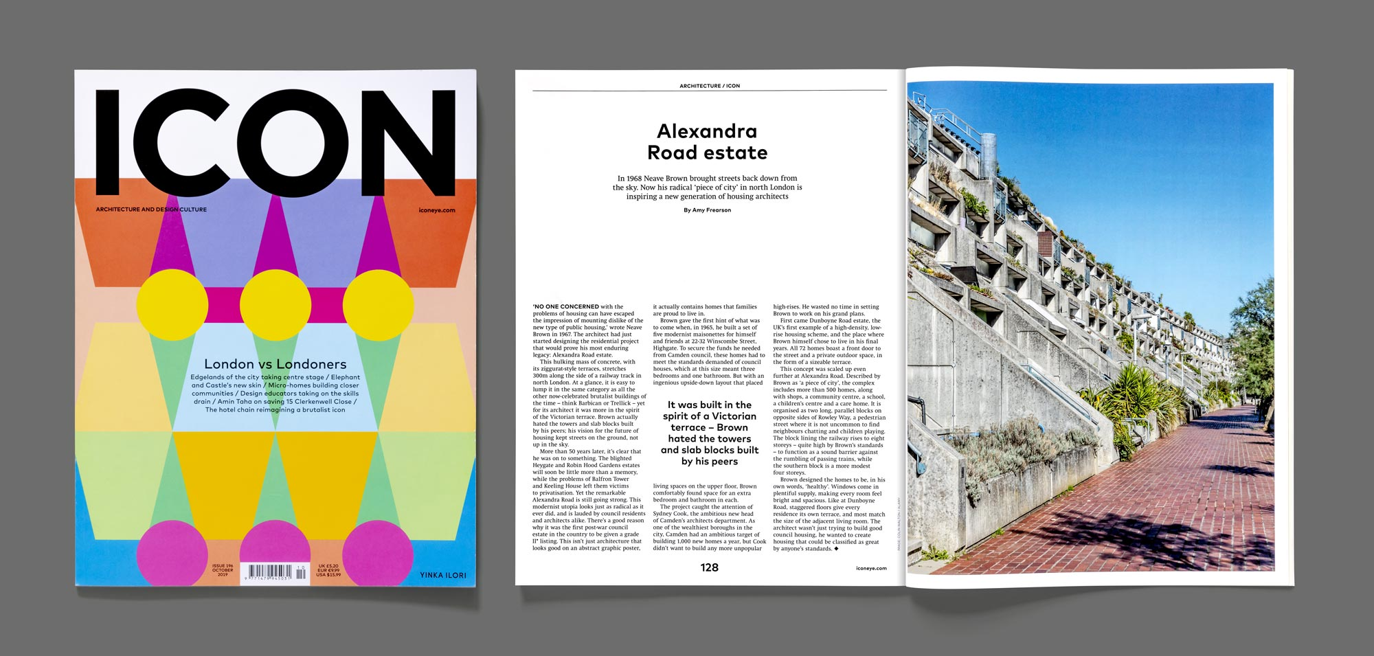Icon Magazine featuring my shot of Alexandra Road Estate
