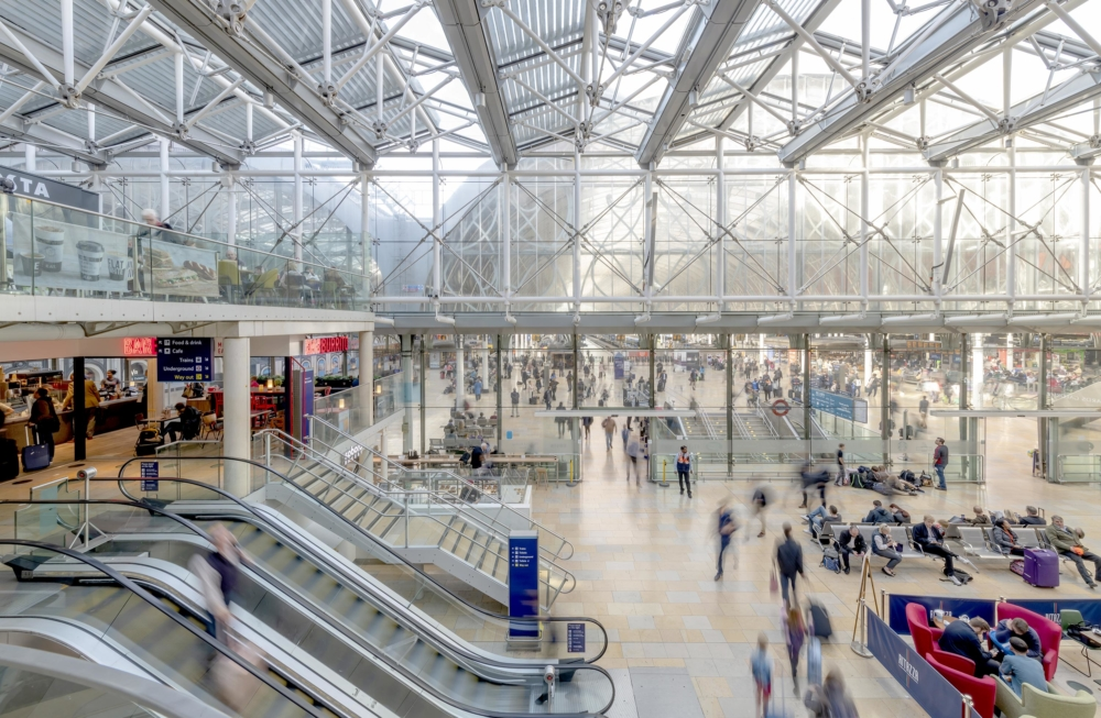 London Paddington Station Escalators