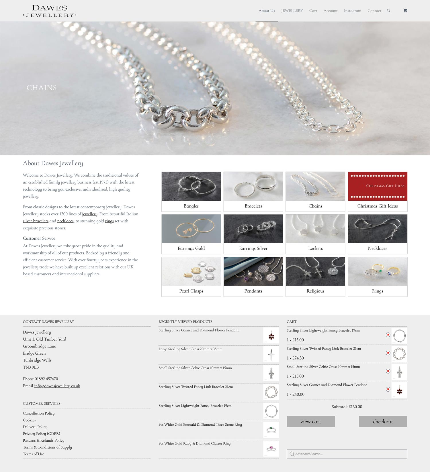 Dawes Jewellery Home Chains