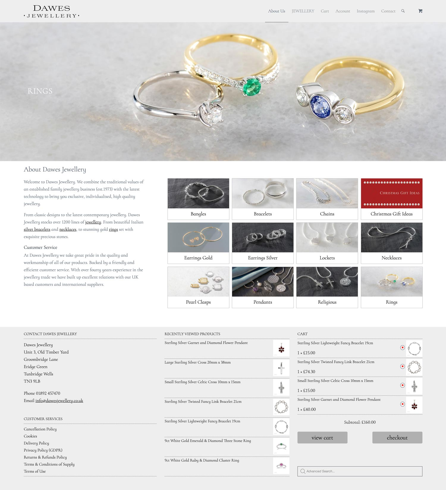 Dawes Jewellery Home Rings