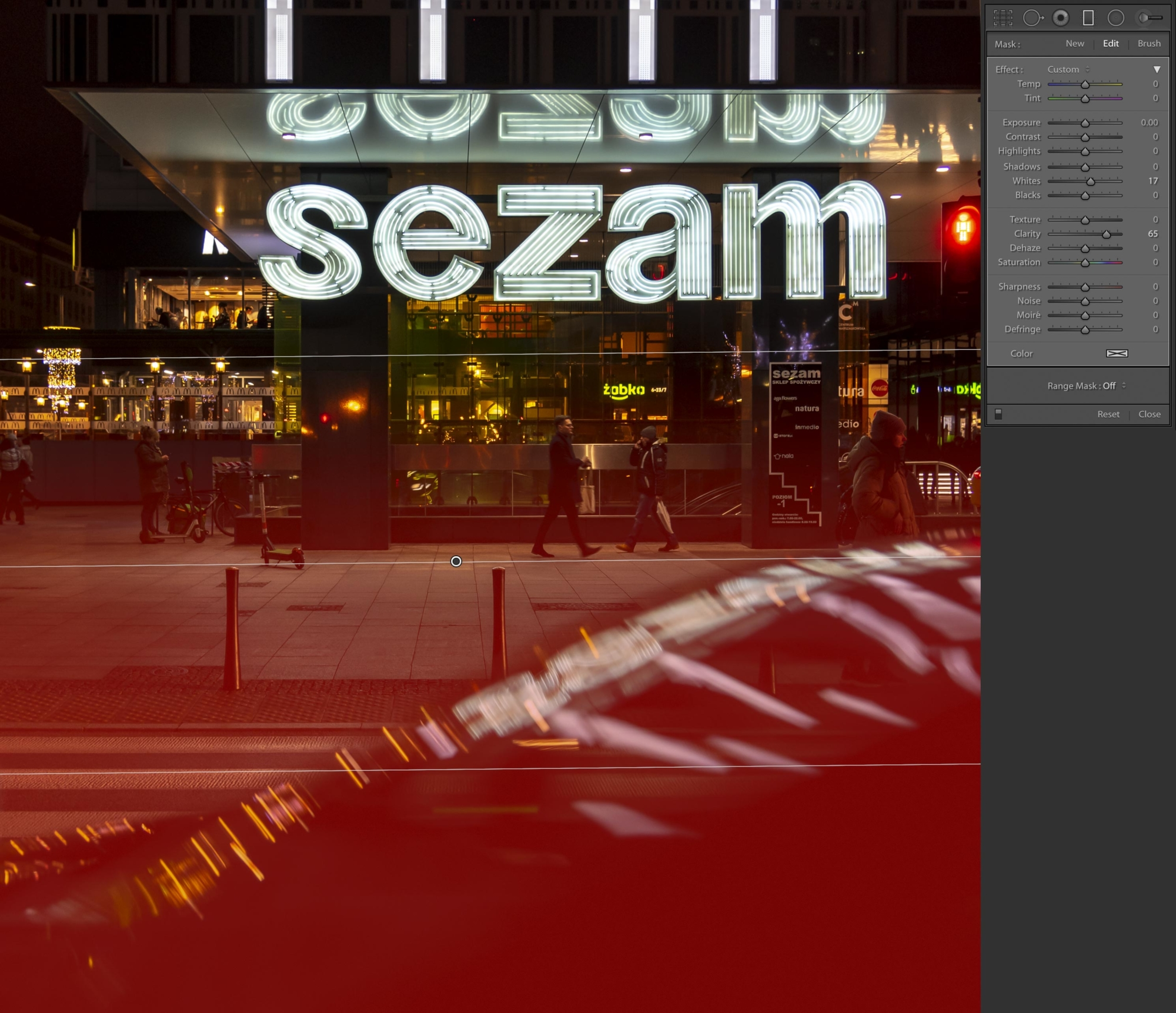 Instagram ready images -Sezam neon sign and car - with gradient filter on the car