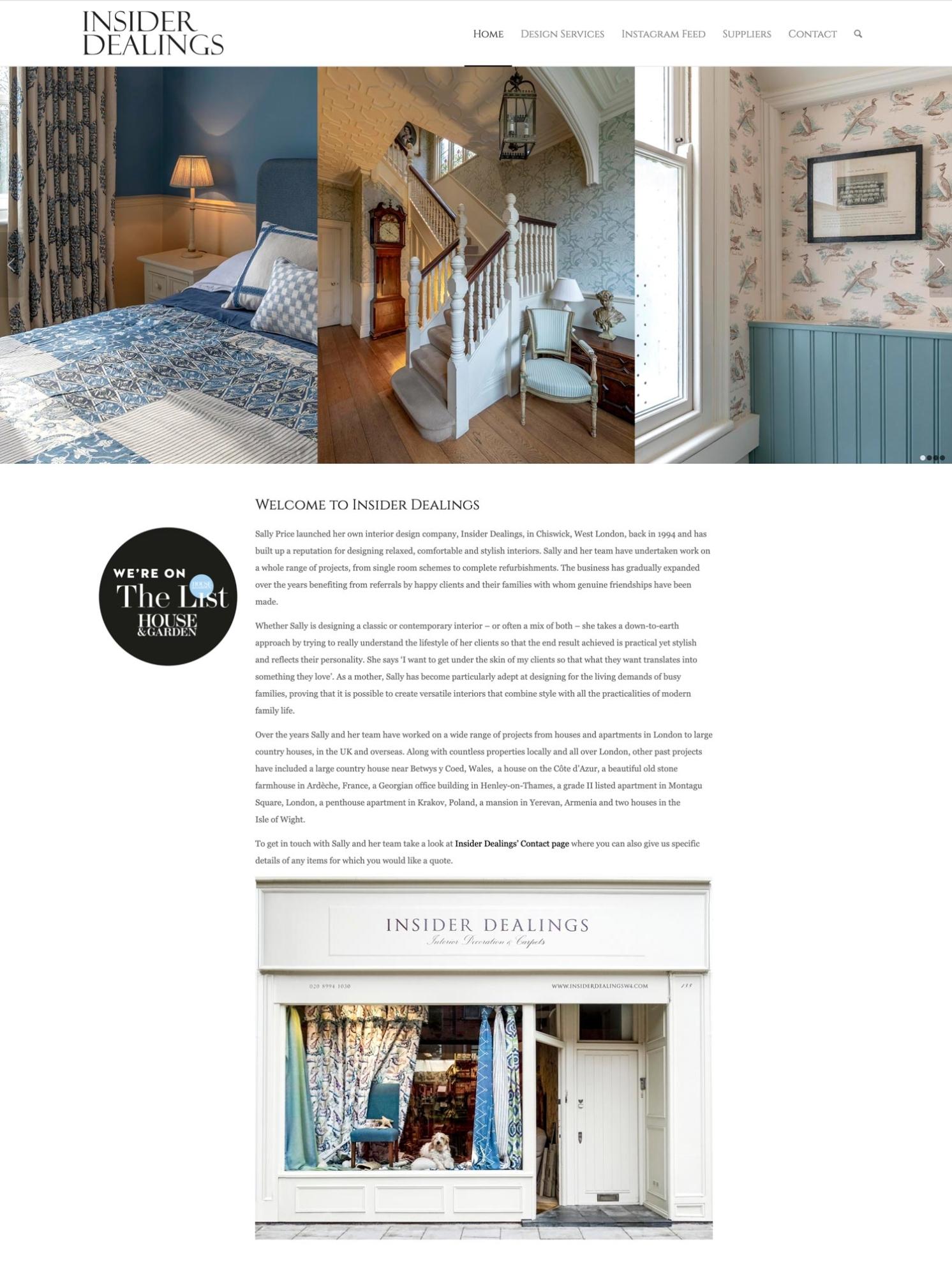 Insider Dealings Website Home 2