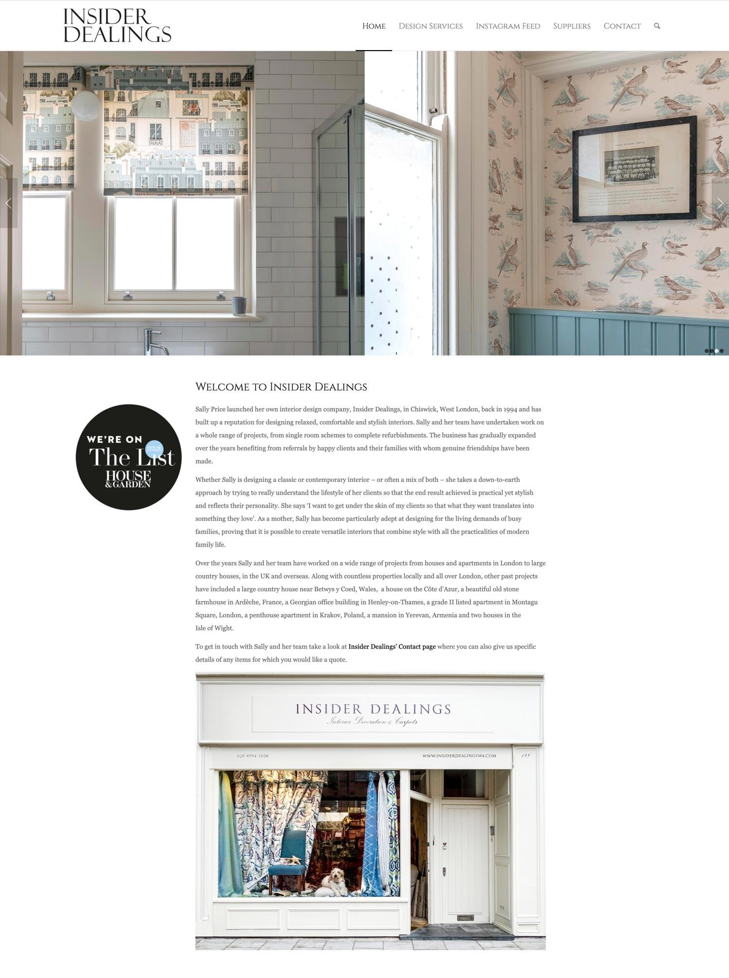Insider Dealings Website Home 4