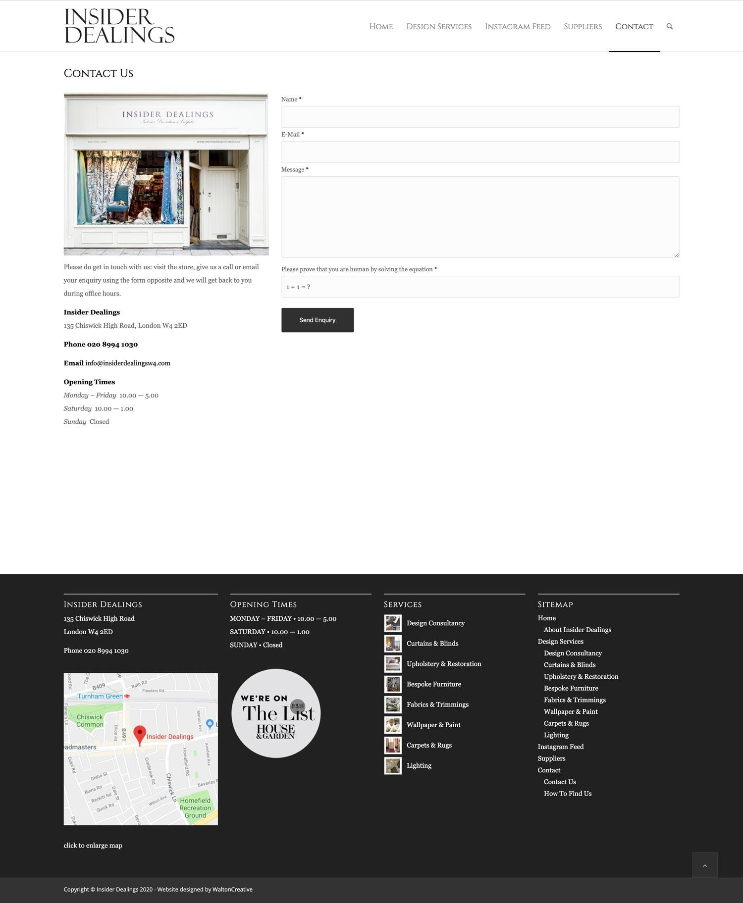 Insider Dealings Website Contact