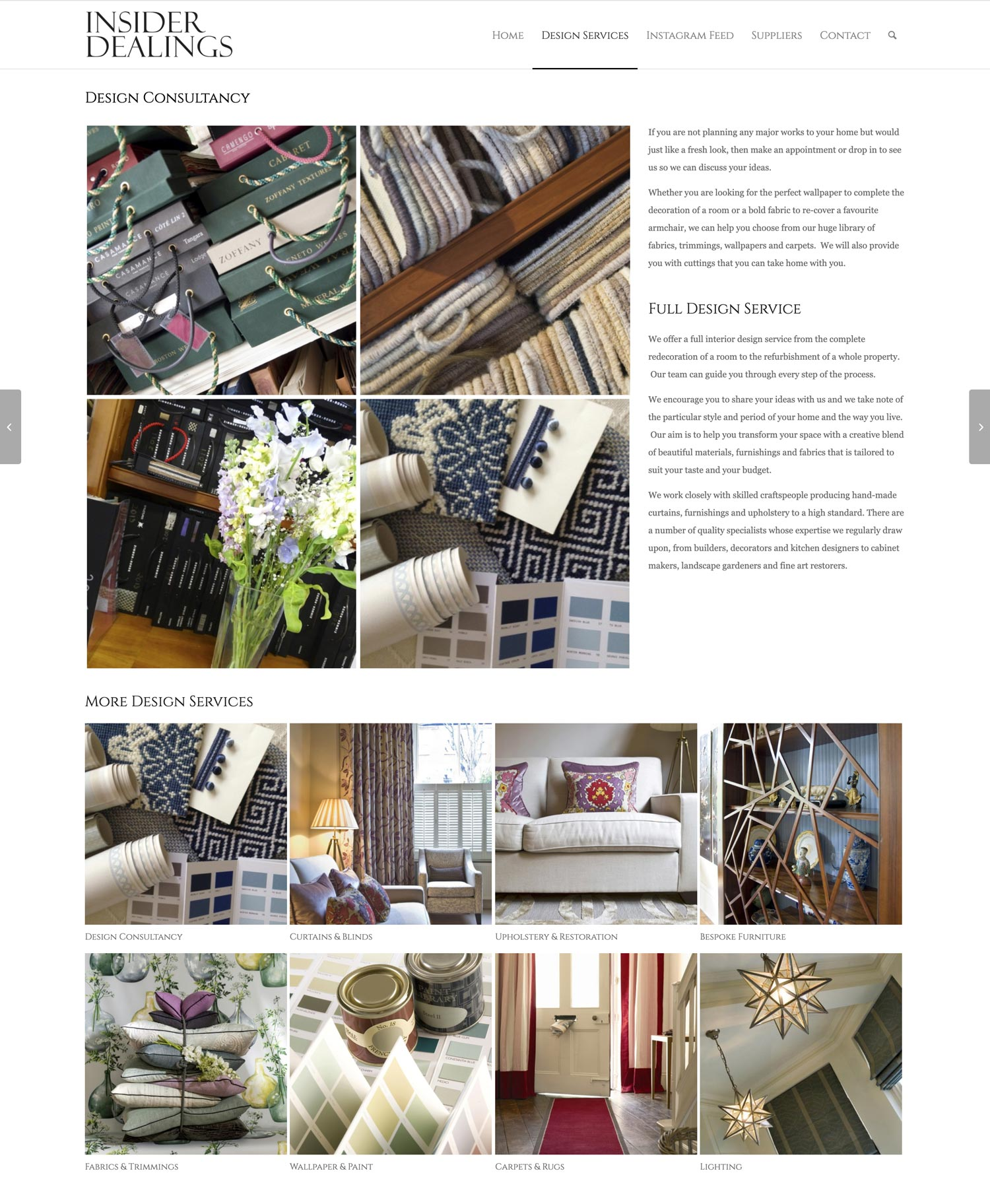 Insider Dealings Website Design Consultancy
