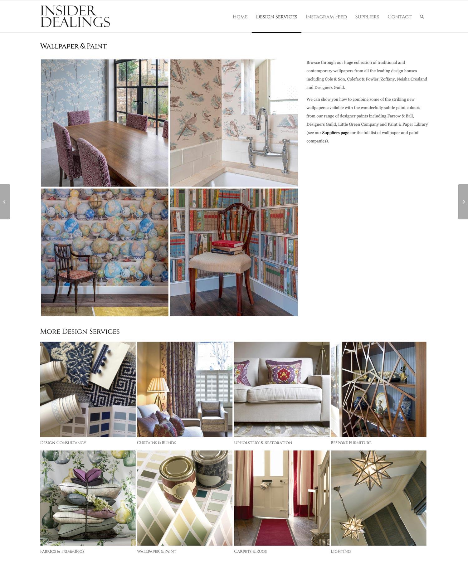 Insider Dealings Website Wallpaper and Paint