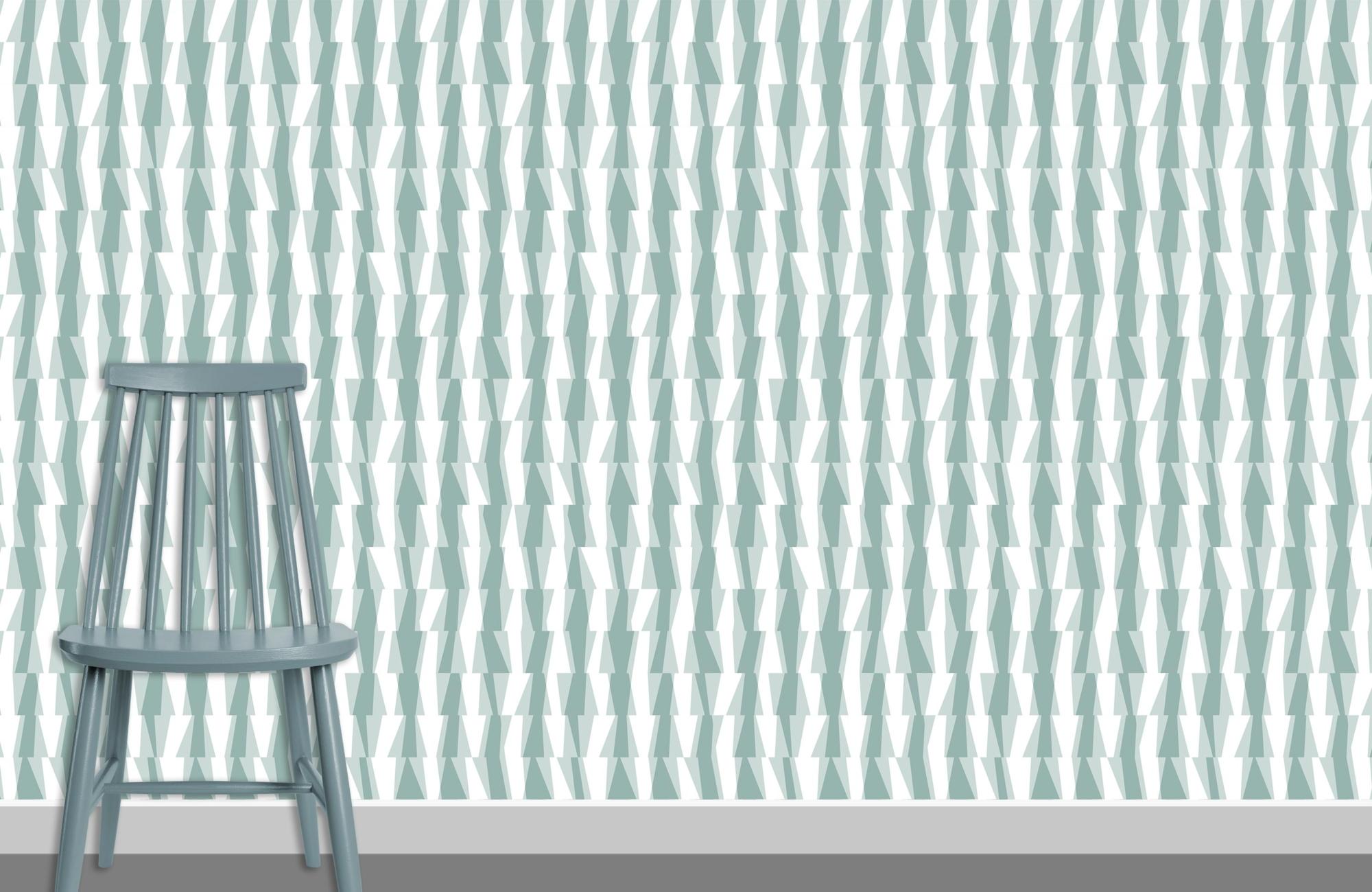 Syncopation Pattern Design Wallpaper K4 plus chair