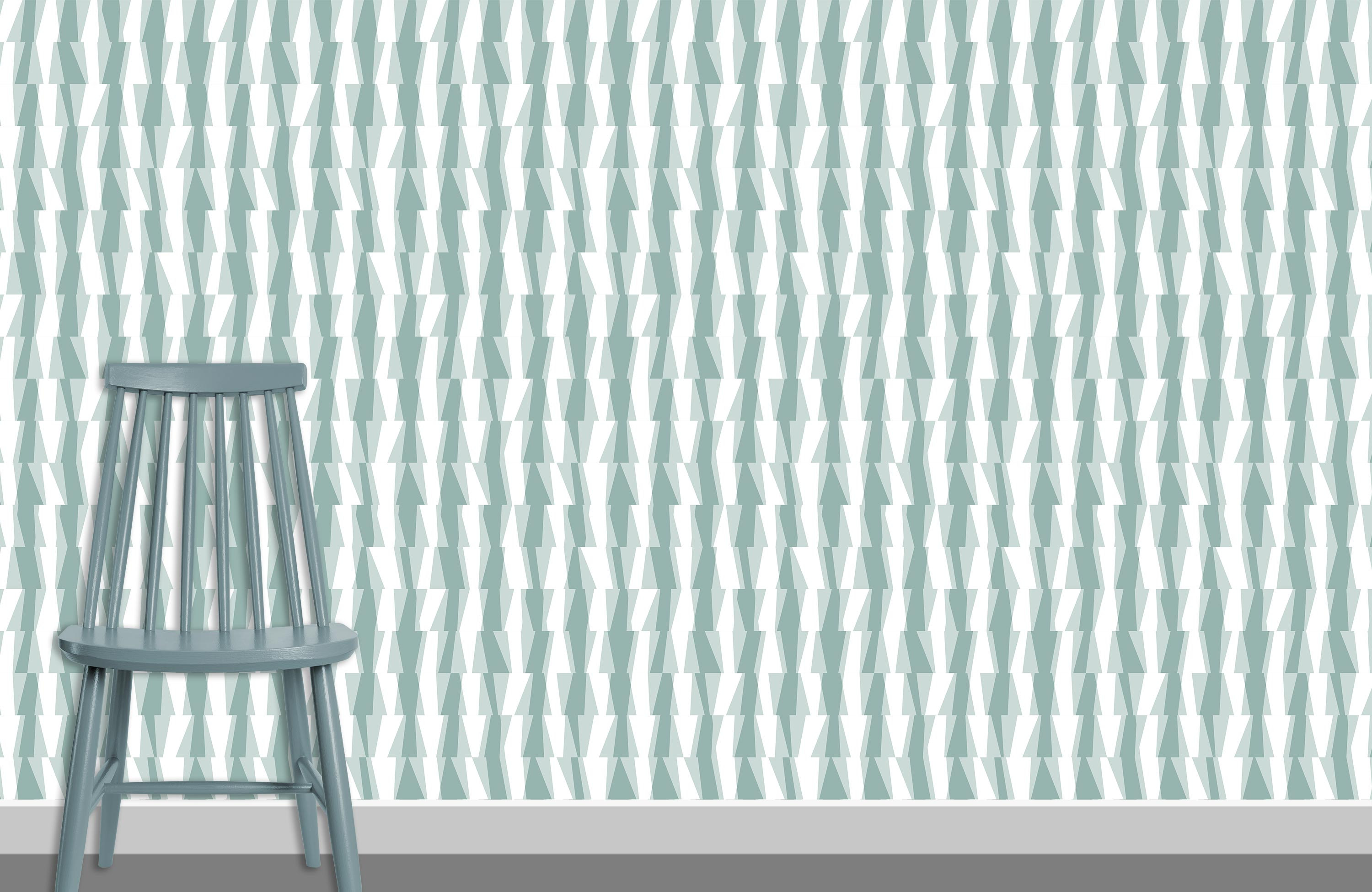 Syncopation Pattern Design Wallpaper K4 plus chair