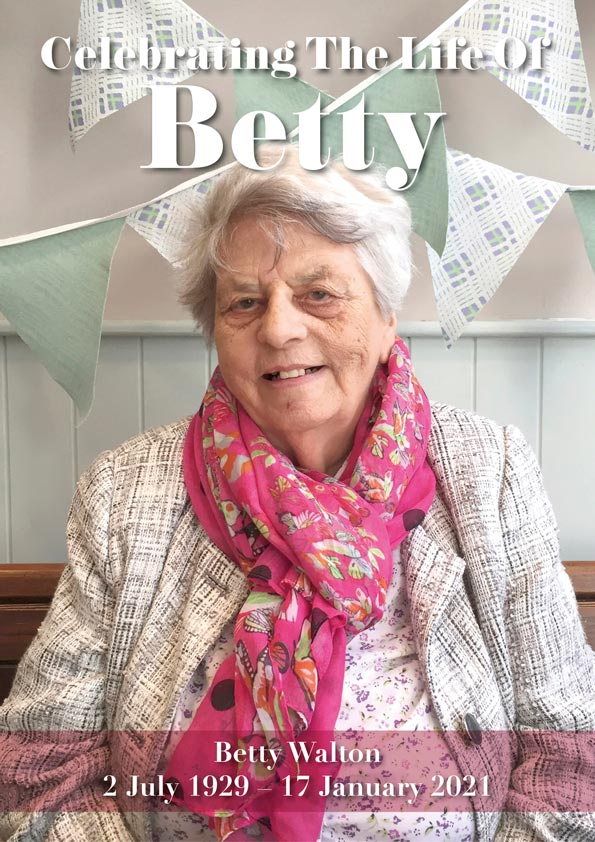 Betty Funeral Small image of front for website