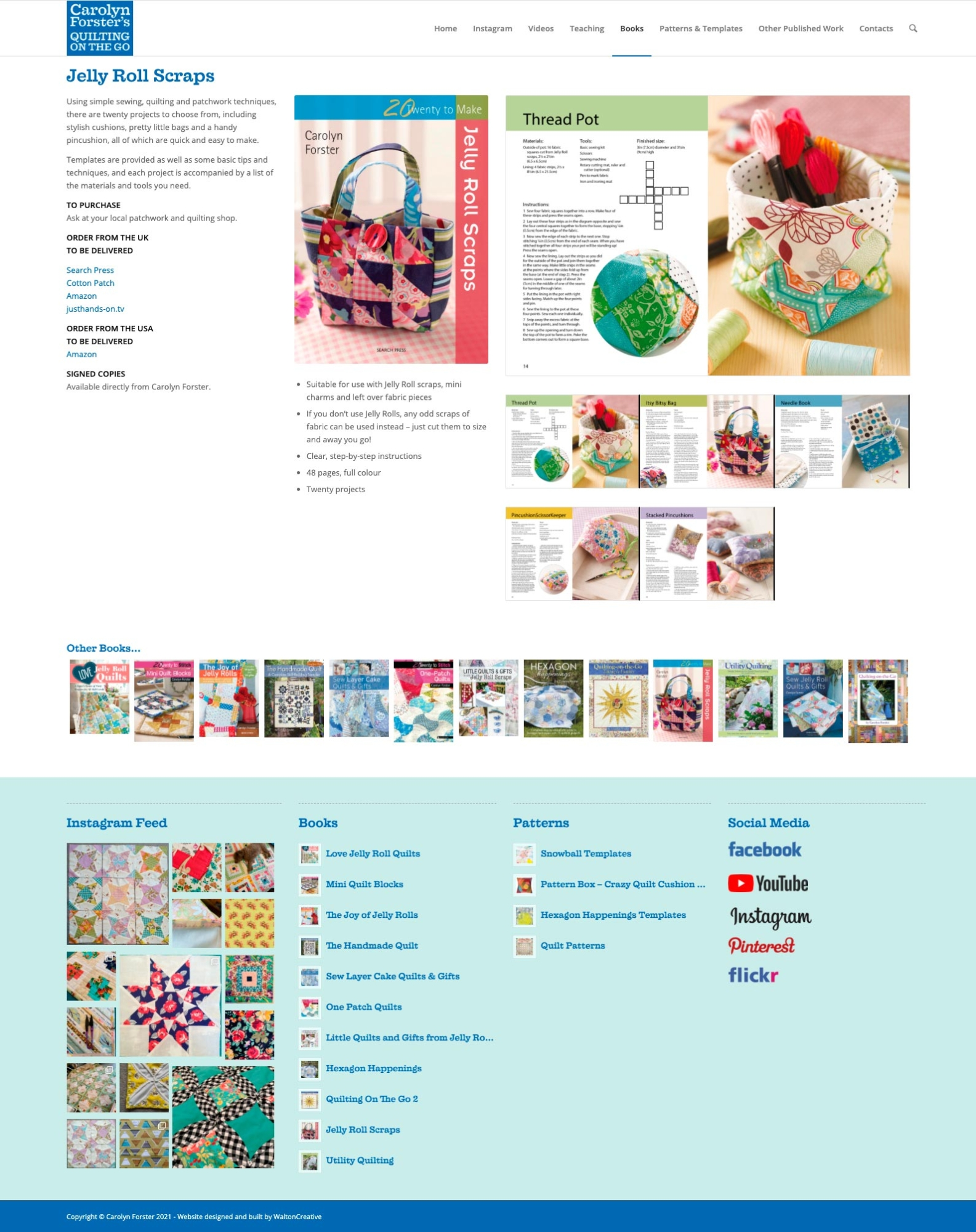 Carolyn Forster's Website Design 10 Jelly Roll Scraps