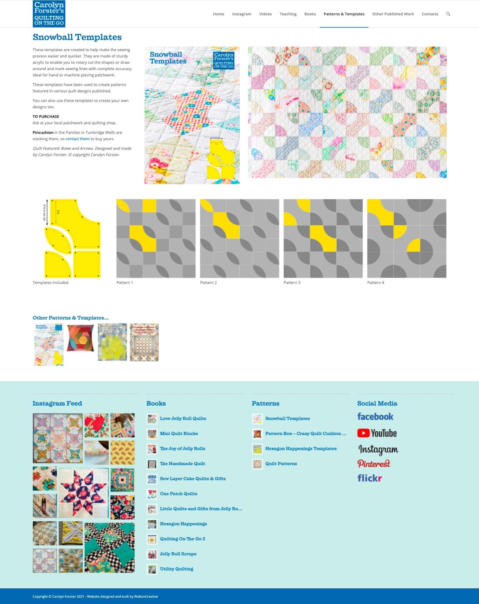 Carolyn Forster's Website Design 3 Snowball