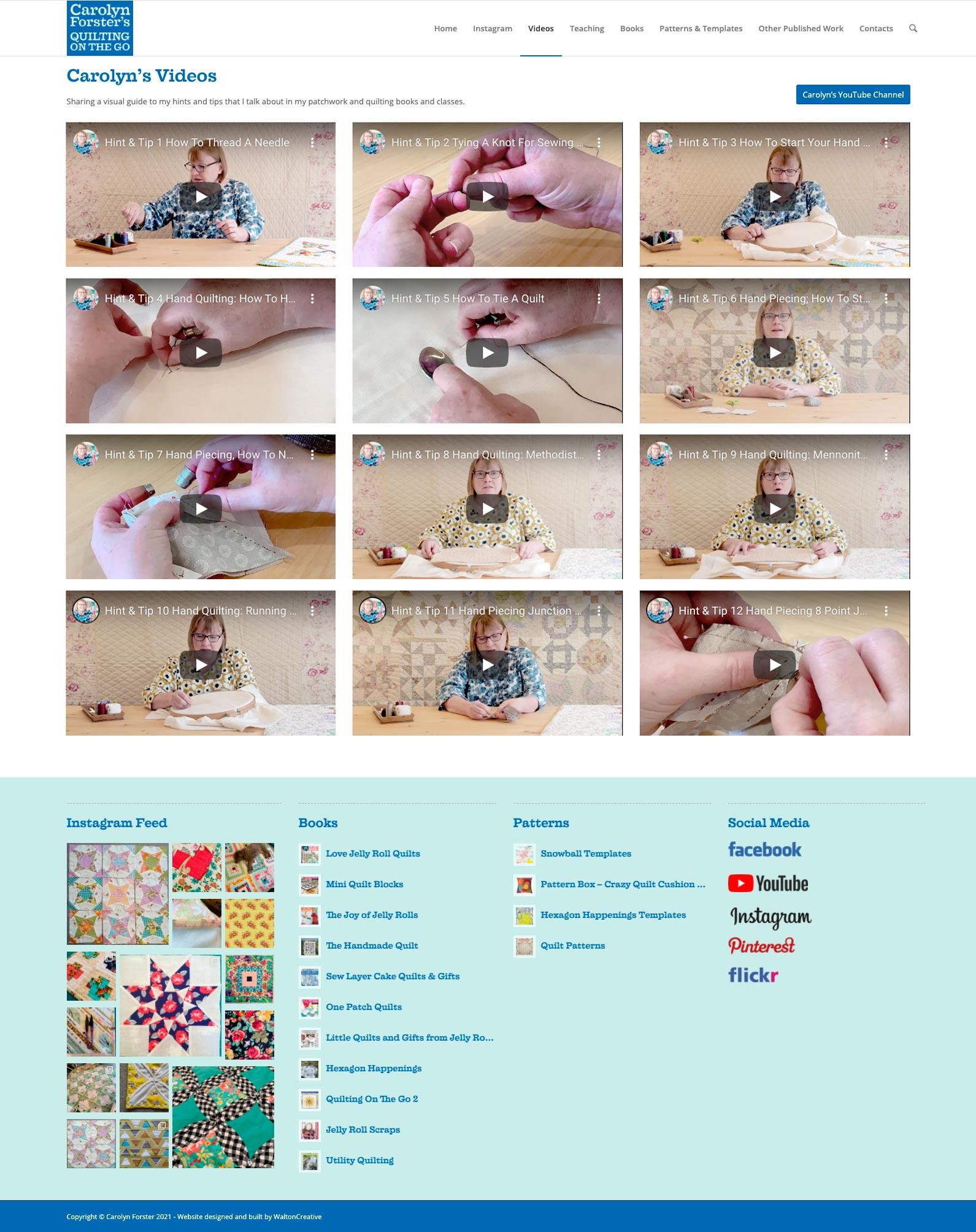Carolyn Forster's Website Design 4 Videos