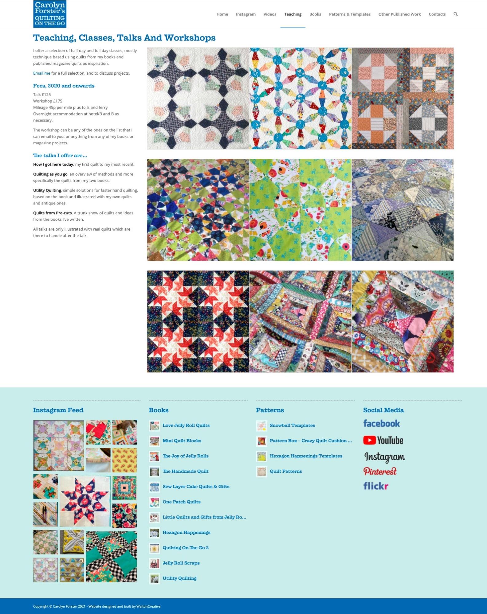 Carolyn Forster's Website Design 5 Teaching