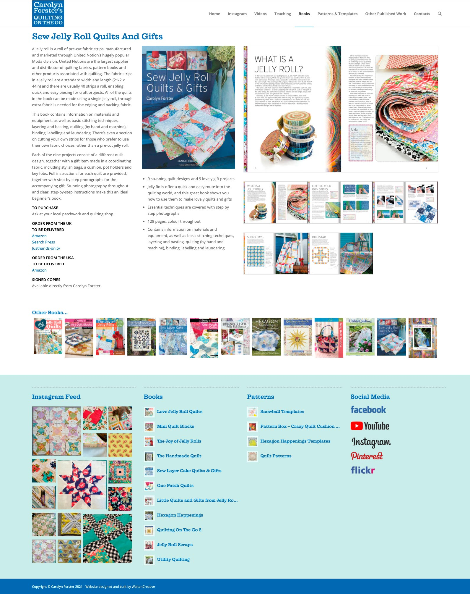 Carolyn Forster's Website Design 7 Sew Jelly Roll Quilts and Gifts