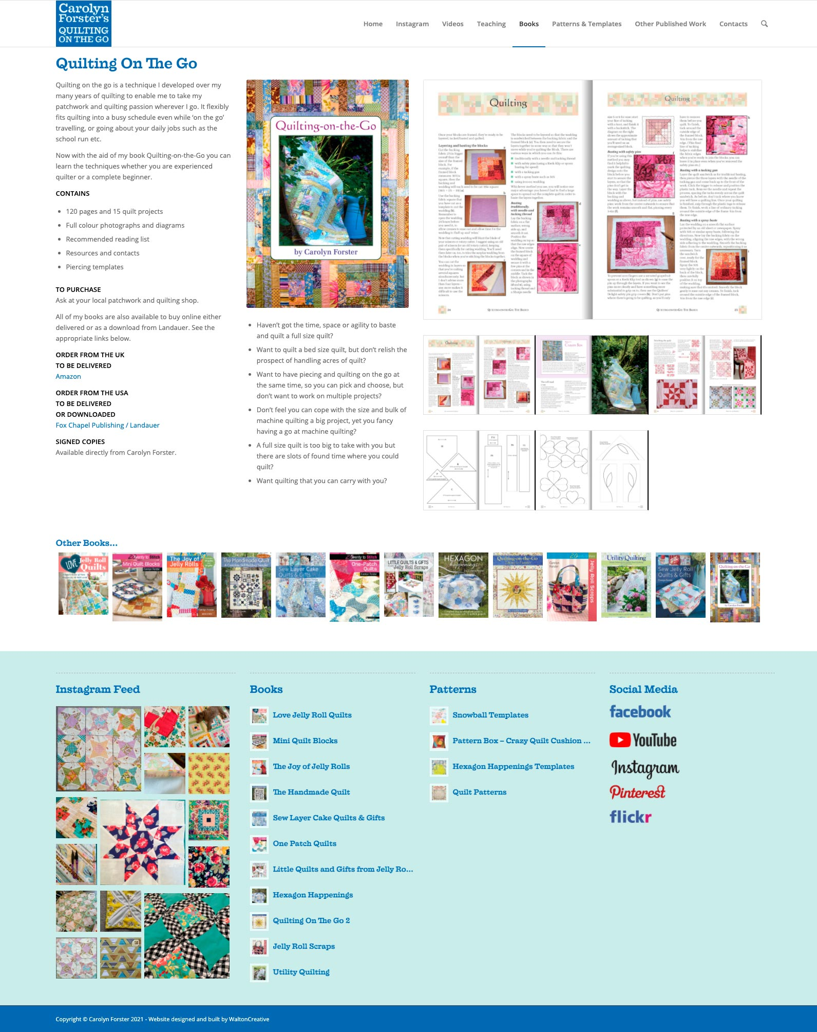 Carolyn Forster's Website Design 8 Quilting On The Go