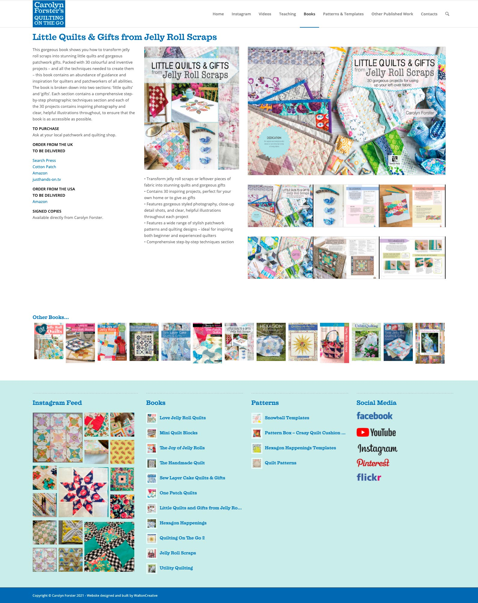 Carolyn Forster's Website Design 9 Little Quilts and Gifts from Jelly Roll Scraps