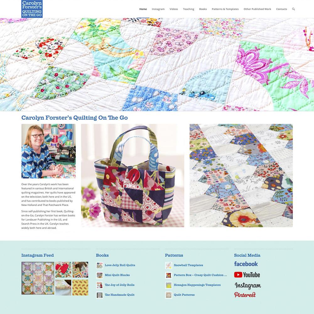 Carolyn Forster Website Design