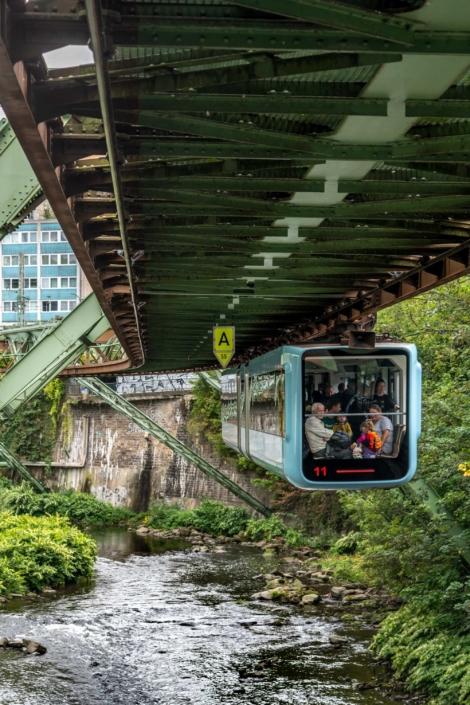 Wuppertal Schwebebahn Monorail, Germany 190905wc859561