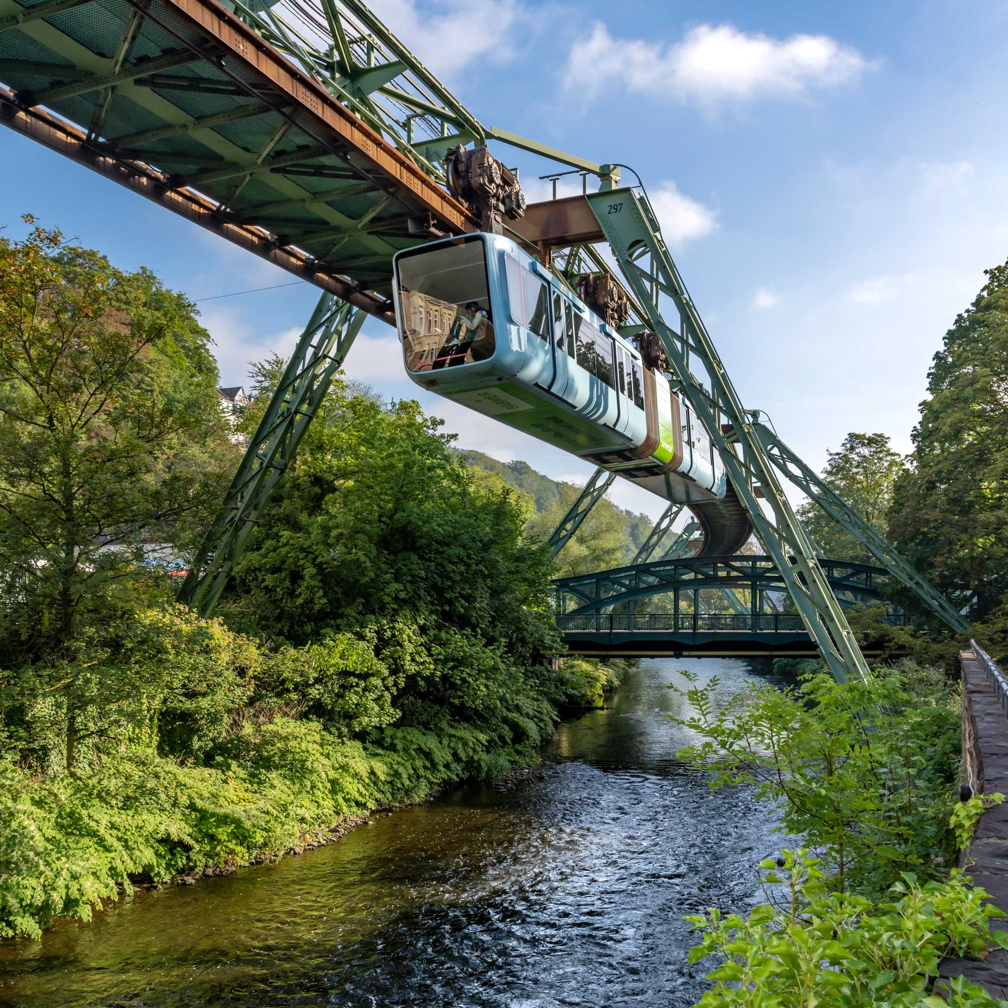 Wuppertal Schwebebahn Monorail, Germany 190906wc859754-2