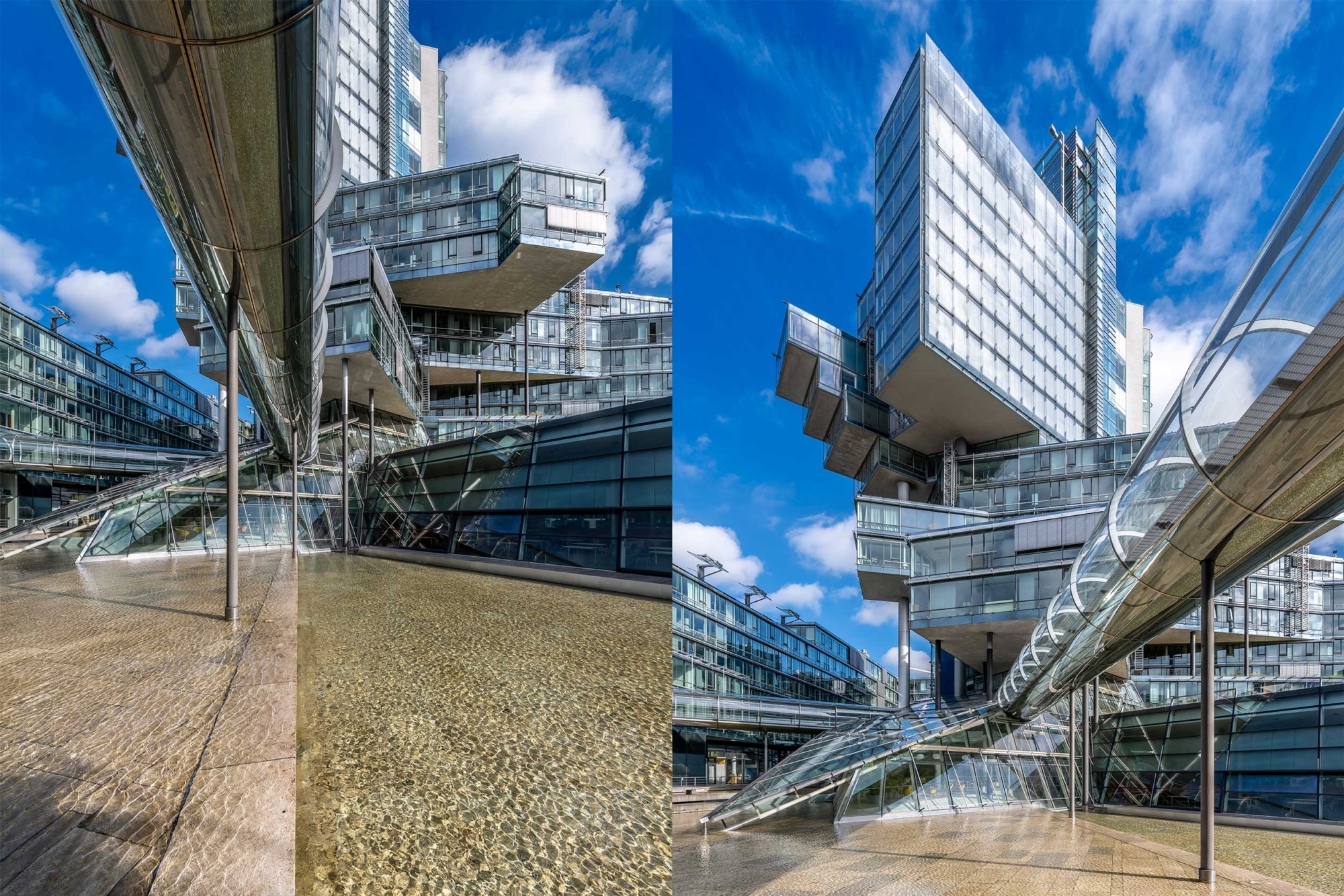Deconstructivist building of the German Bank Nord:LB in Hannover, Germany 200929wc859772-3