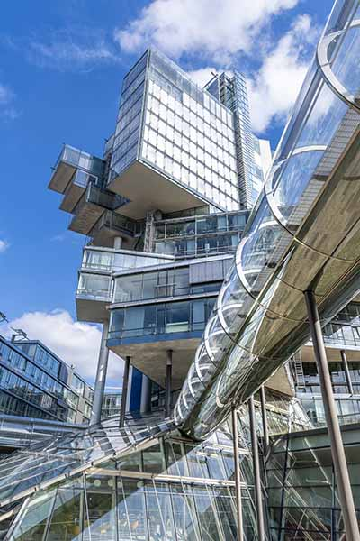 Featured Deconstructivist building of the German Bank Nord:LB in Hannover, Germany 200929wc859751